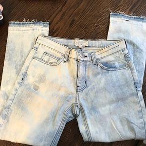 Current/Elliott Acid Wash Jeans 28